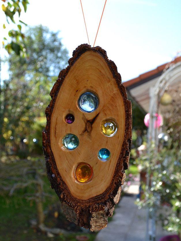 Gartendekoration holz sonnenf nger 20 cm birke ein for Gartendekoration holz