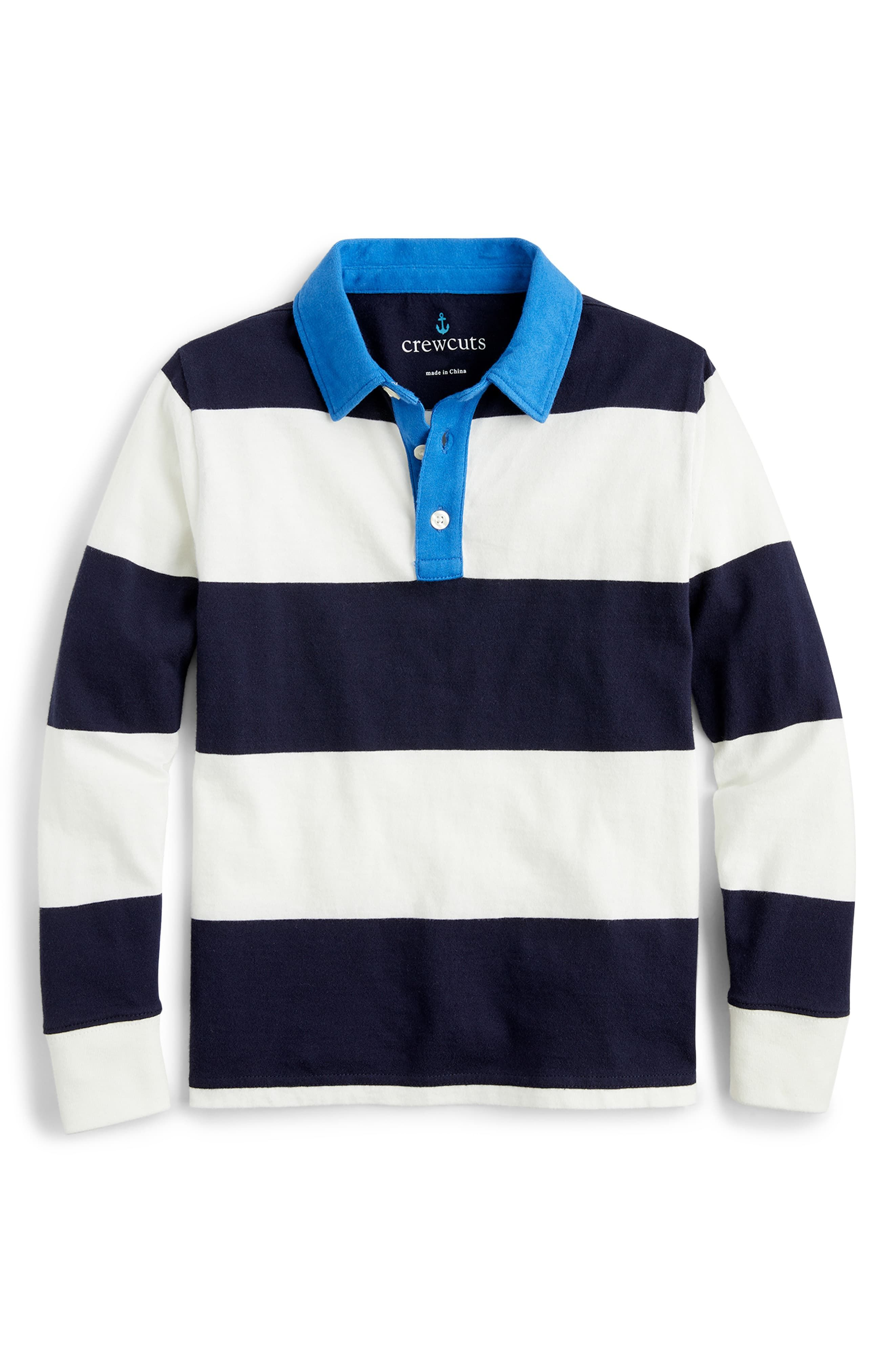 crewcuts by J.Crew Boys Cotton Rugby-Stripe Sweater Toddler//Little Kids//Big Kids