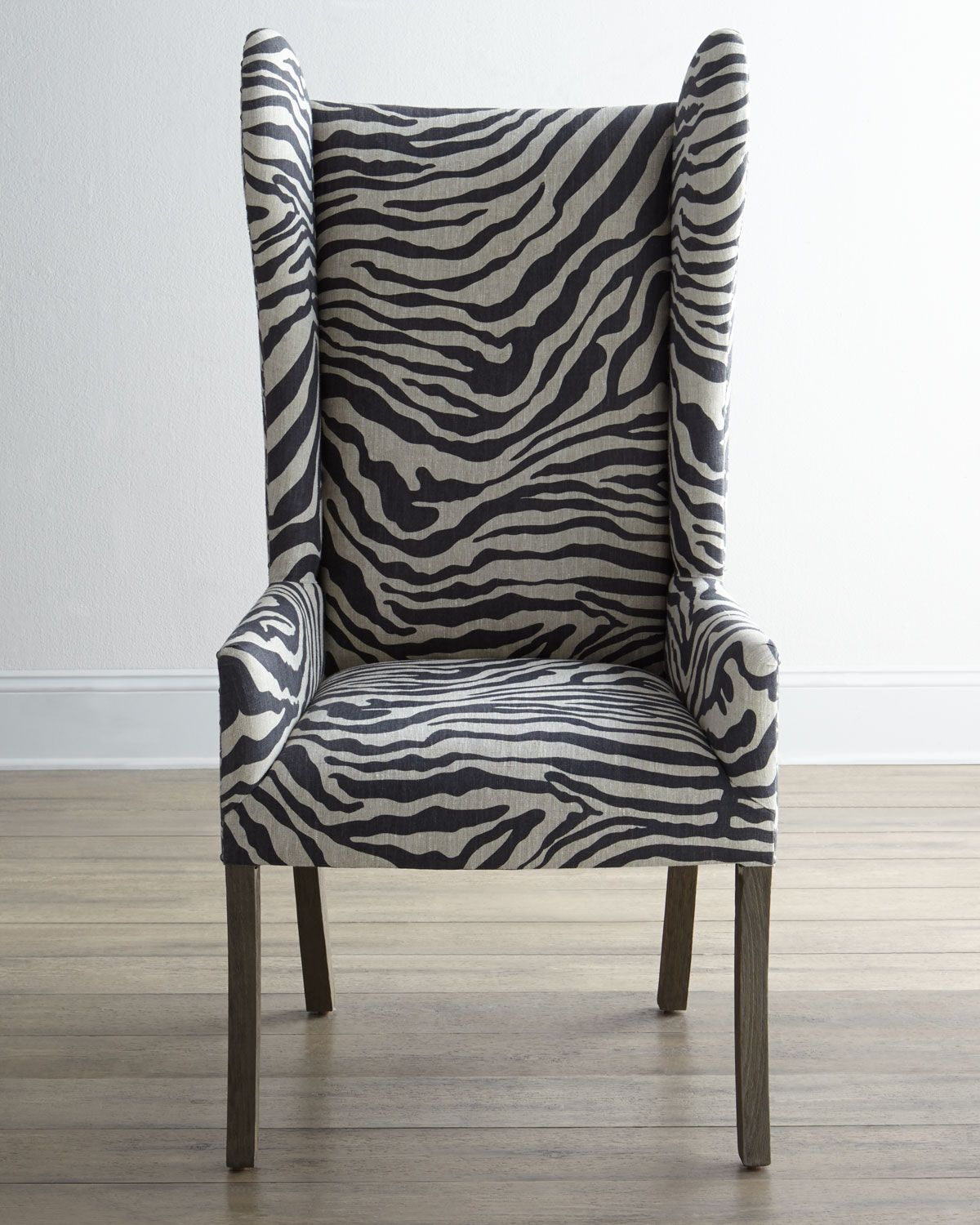 Kayla ZebraPrint Wingback Chair Zebra chair, Wingback