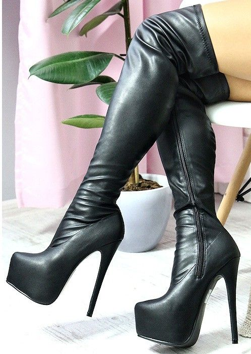 pin by john murphy on thigh high boots cuissarde talon. Black Bedroom Furniture Sets. Home Design Ideas