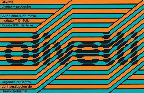 Afiche Olivetti, 1969. Diseño Juan Carlos Distéfano, Rubén Fontana y Carlos Soler