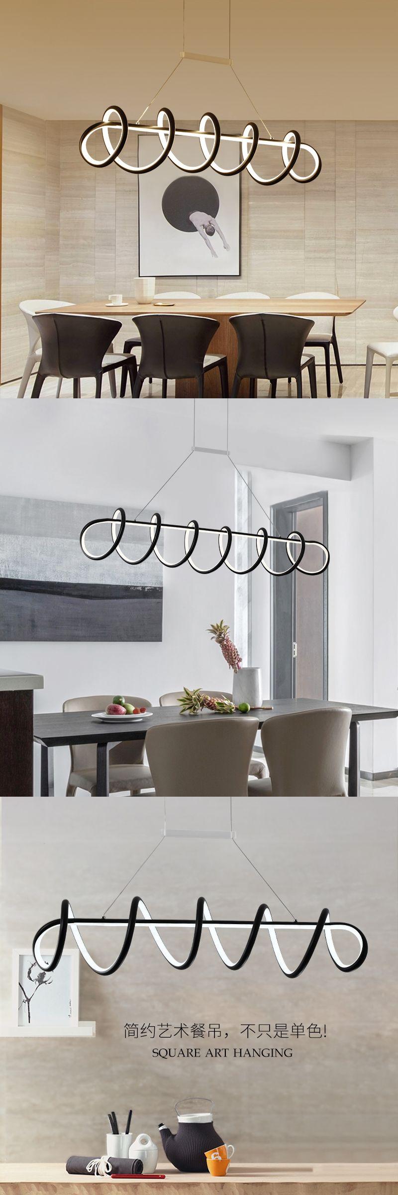 Modern LED Pendant Lights For Living Dining Room DIY Hanging Lighting Fixtures AC85265V Aluminum