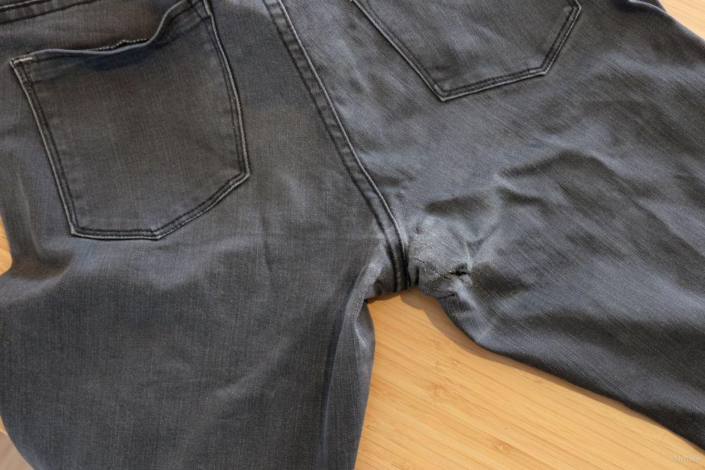 b59c5c10f6f broek repareren dijen gat tussen de benen - | DIY - kleding ...