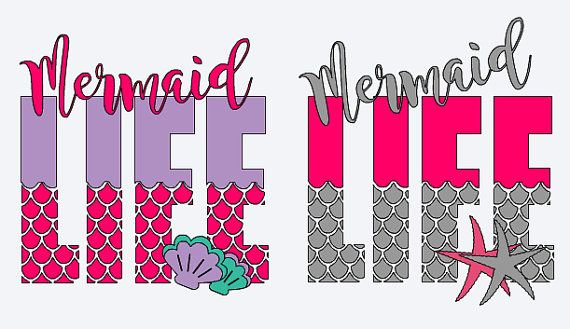 Mermaid Life Decal Mermaid Sticker For Tumblers Yeti Vinyl Decal - Mermaid custom vinyl decals for car