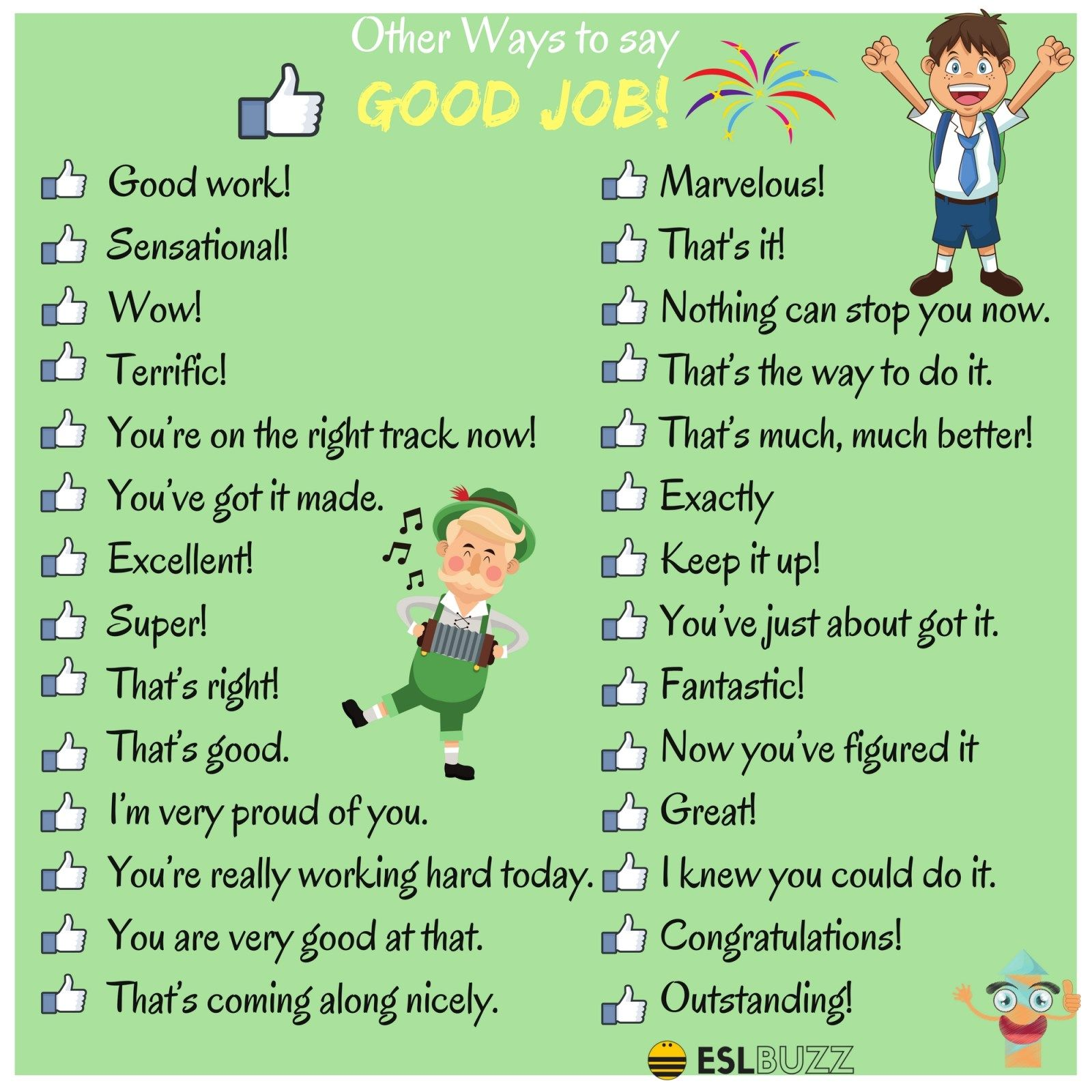 100 Powerful Ways To Say Good Job In English