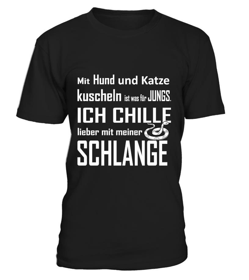 ICH chille mit MEINER SCHLANGE  Funny Tiger T-shirt, Best Tiger T-shirt