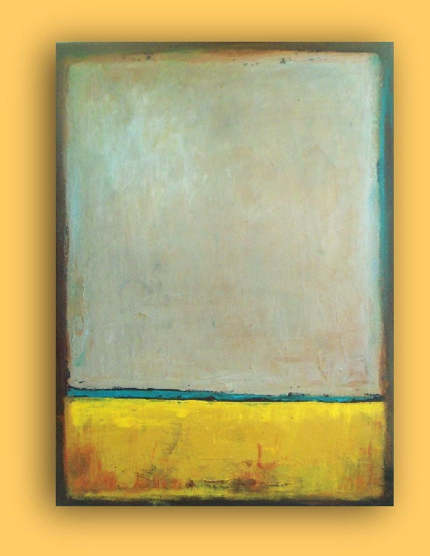 Blue ray contemporary abstract painting original acrylic for Minimalist art pieces