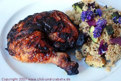 Chili und Ciabatta: Rosmarin-Lavendel-Hähnchen mit gegrilltem Gemüse-Couscous