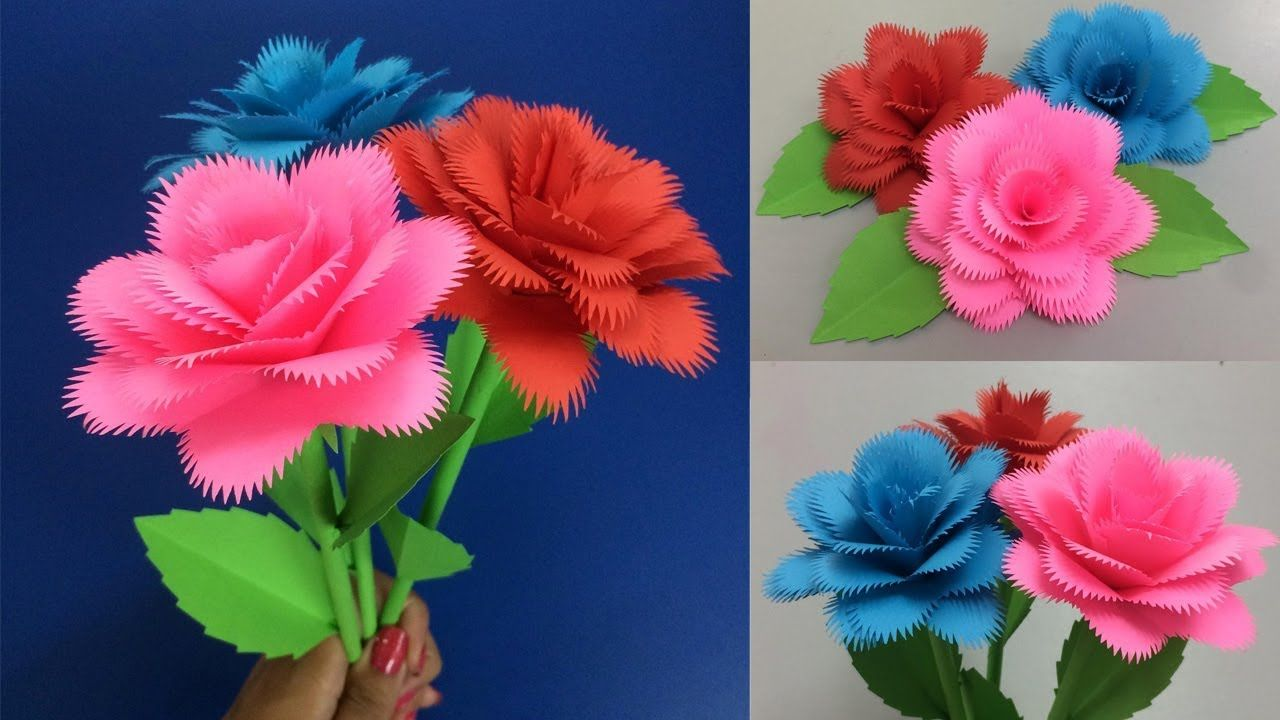 How To Make Paper Rose Making Paper Flowers Step By Step Diy
