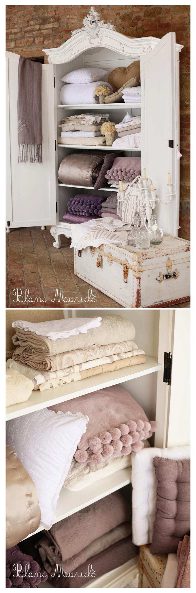shabby abd chic home linen beautiful closet | Mobili | Pinterest ...