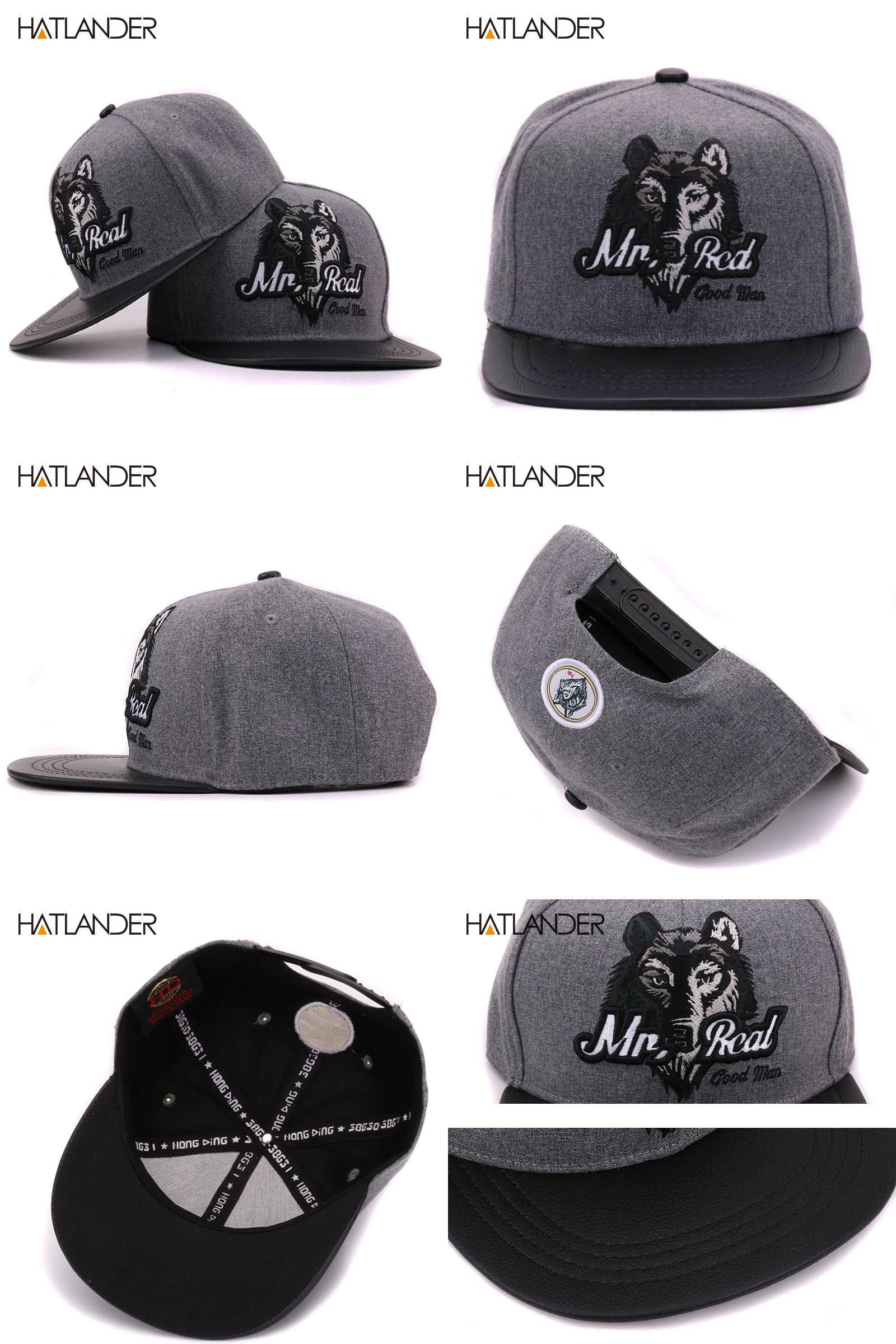 9ee9ca75b69  Visit to Buy  HATLANDER 2017 Grey men hip hop baseball cap fitted flat  brimmed