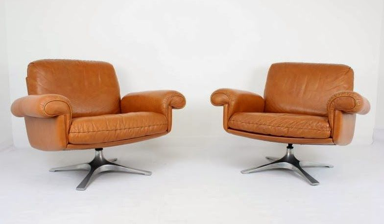 Great We Have These Beautiful De Sede Leather Swivel Lounge Chairs In The Store  Now. Amazing Pictures
