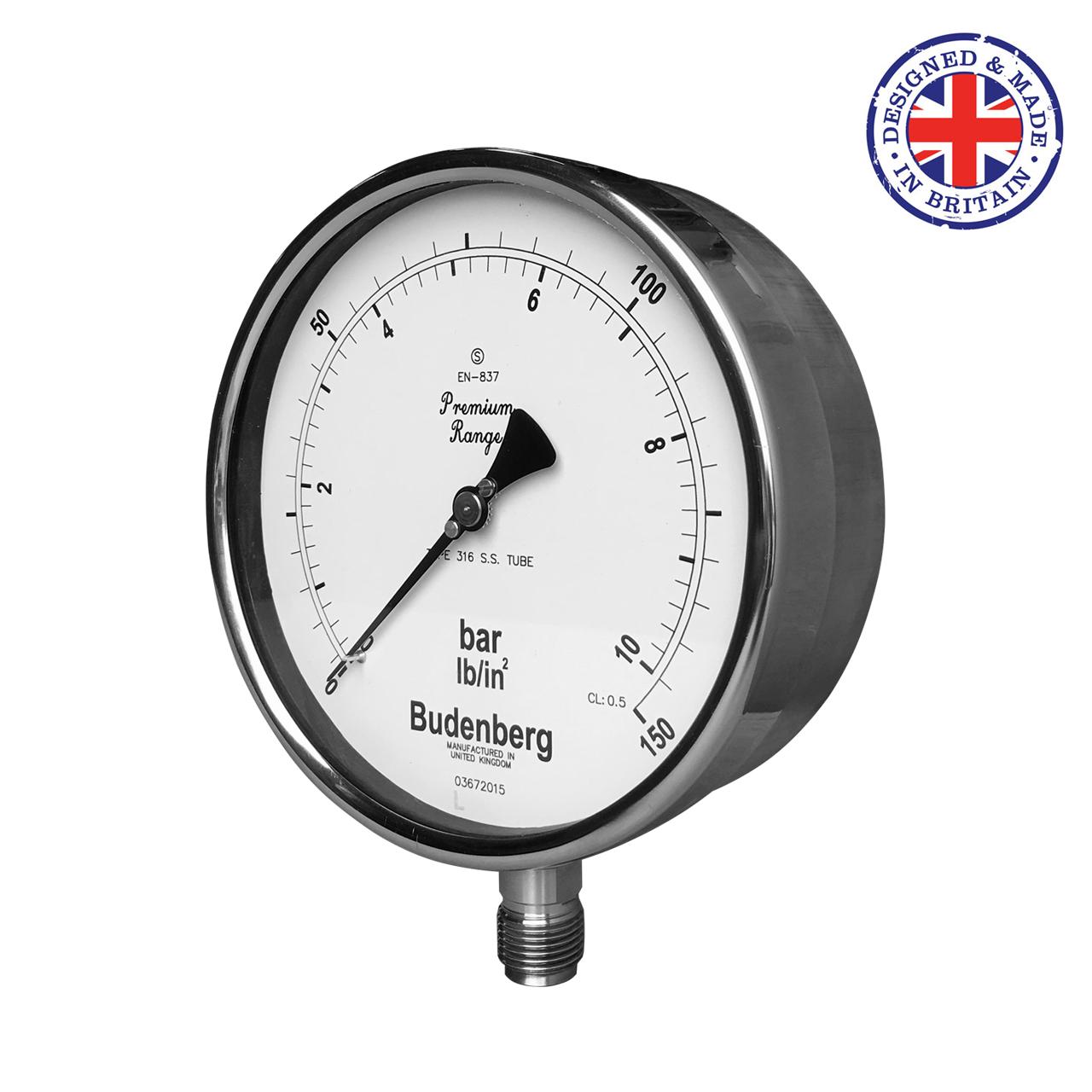 Budenberg 966mgp Monel Wetted Parts Pressure Gauge Pressure Gauge Gauges Relief Valve
