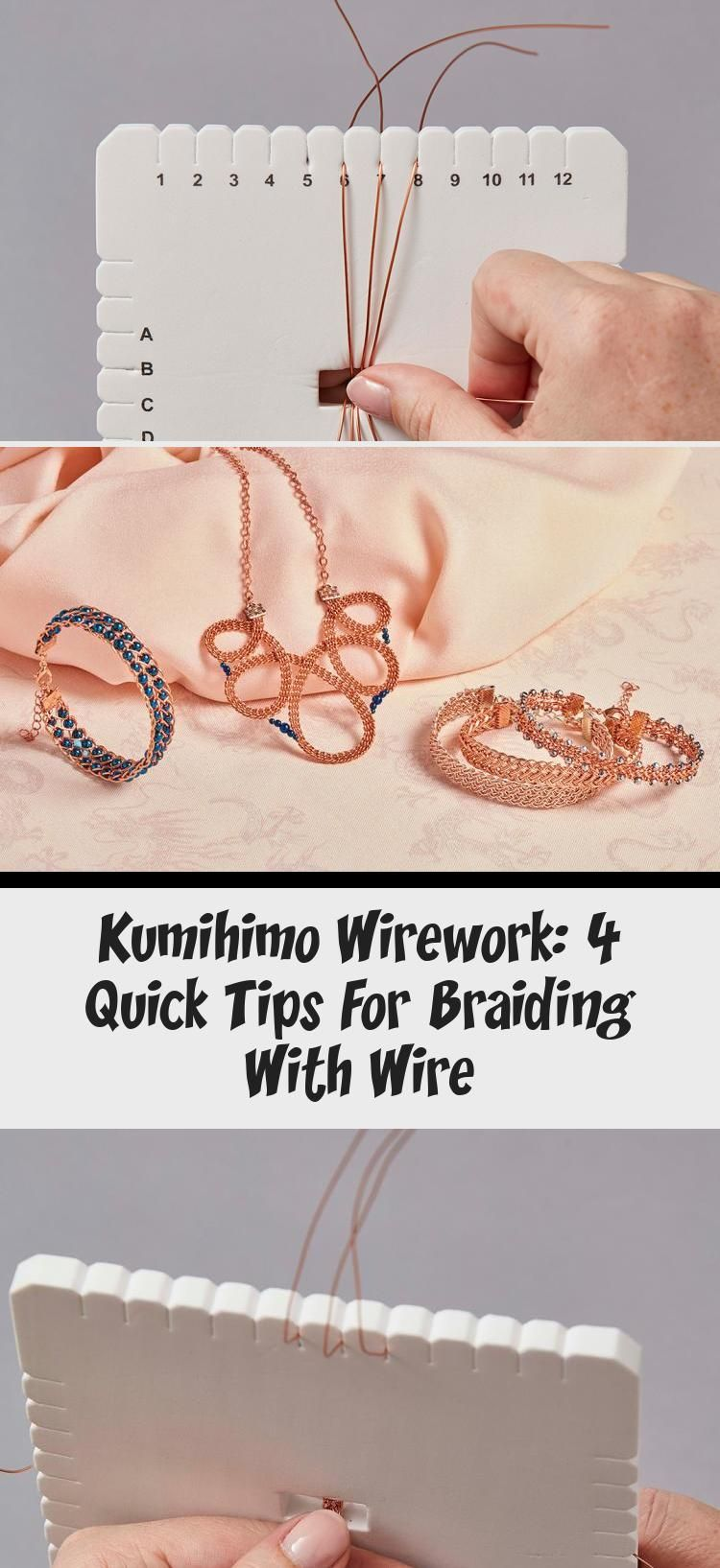 Photo of Kumihimo Wirework: 4 Quick Tips For Braiding With Wire – Jewelrys