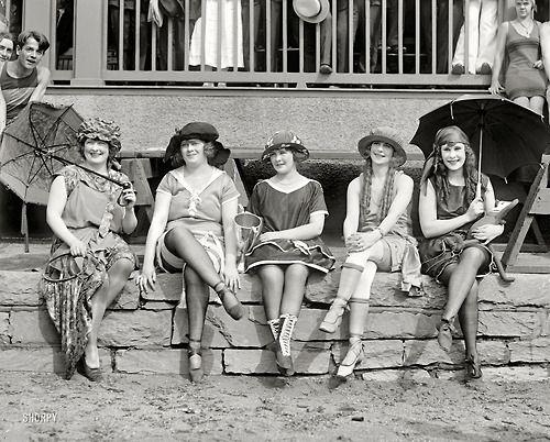 """June 25th, 1921. Washington, D.C. """"Bathing Suit Costume Contest."""""""