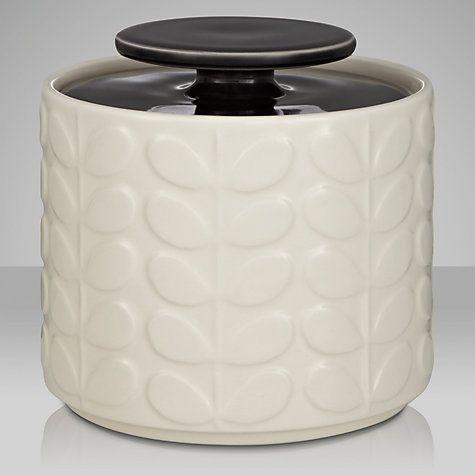 Orla Kiely Raised Stem Ceramic Kitchen Storage Jar 1l Online At Johnlewis
