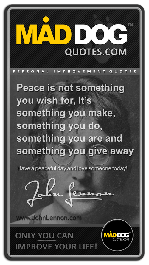 Great quotes from John Lennon on (With
