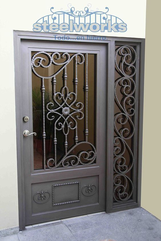 Resultado De Imagen Para Puertas Principales De Cristal Templado Puertas De Hierro Diseno De Puerta De Hierro Diseno De Puertas Modernas