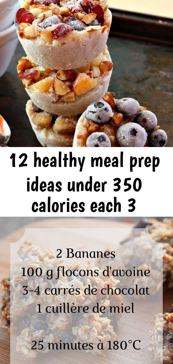 12 healthy meal prep ideas under 350 calories each 3 Make Ahead Breakfast Oatmeal Cups  meal prep a healthy breakfast when you customize these easy DIY freezer oatmeal cu...