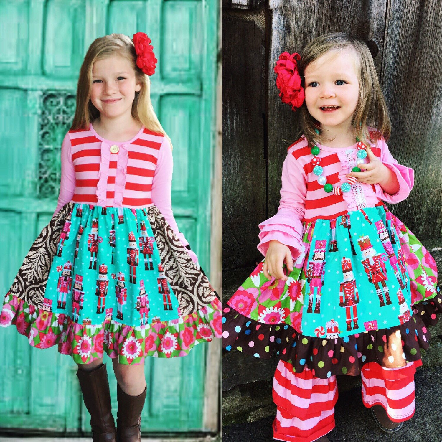 matching sister dresses its what holiday dream pictures are made of