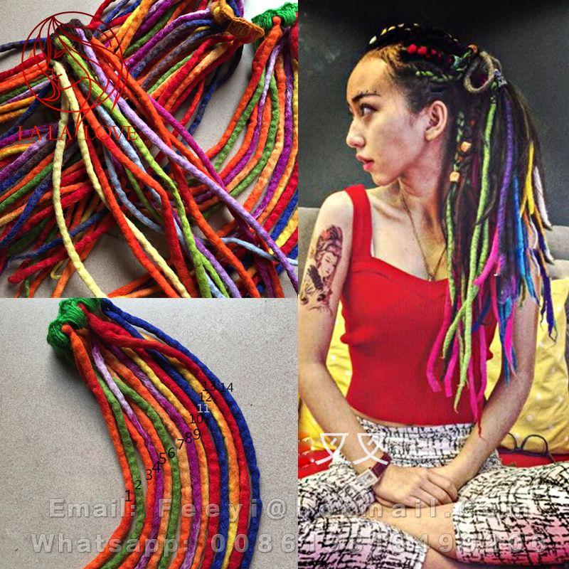 Handmade Wool Felt Material Dreadlocks Hair Reggae ...