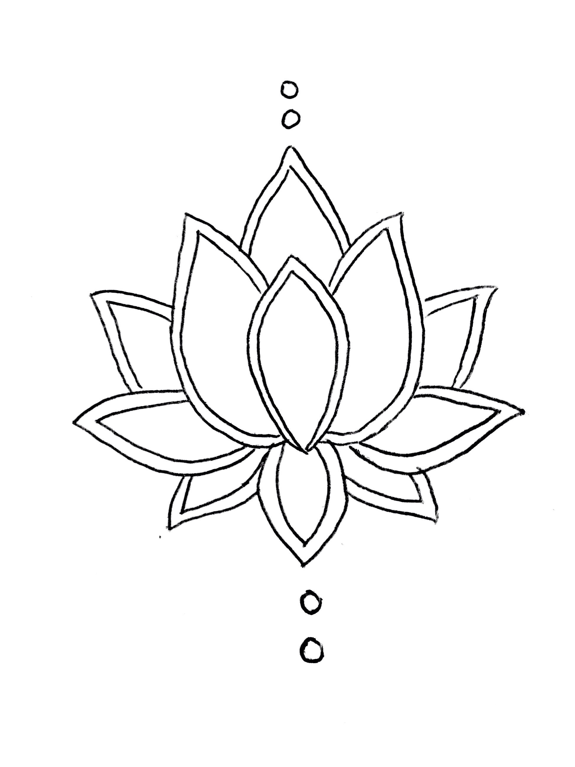 Pin By Justyna On Tattoo Inspo Beaded Flowers Patterns Flower Outline Flower Drawing