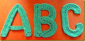 Letters Haken Gehaakt Alphabet Haakpatroon Letters Gehaakte