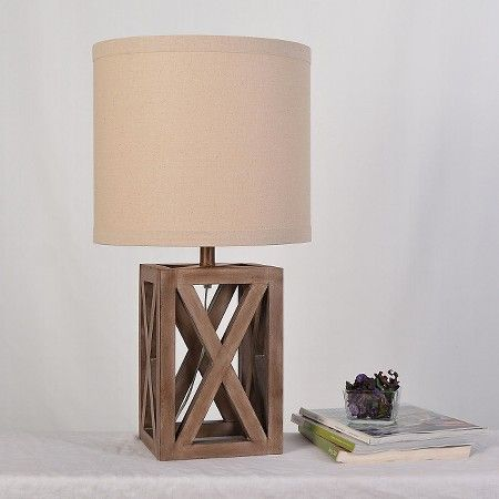 oversized wood assembled table lamp threshold target - Table Lamps Target
