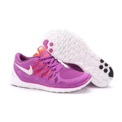 ce838633a019b Lightweight Nike Free 5.0 Women s Running Shoe Purple Orange ...