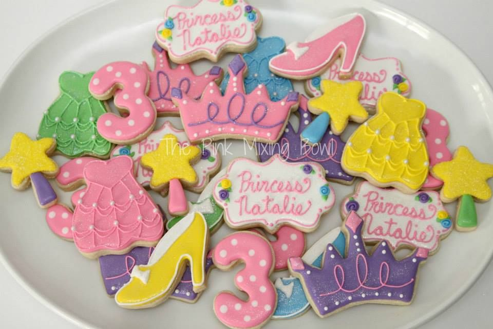 Princess cookies by The Pink Mixing Bowl!