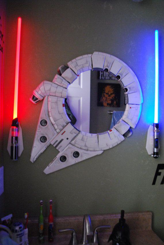 Star Bathroom Decor: Millennium Falcon Decal