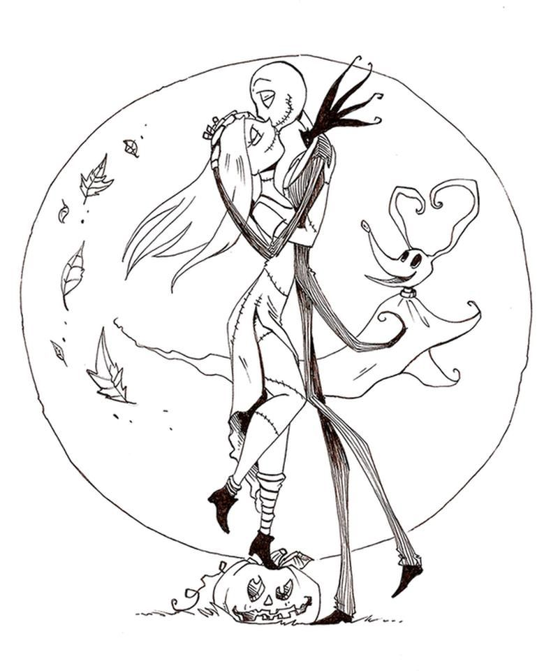 Nightmare Before Christmas Coloring Pages Di 2020