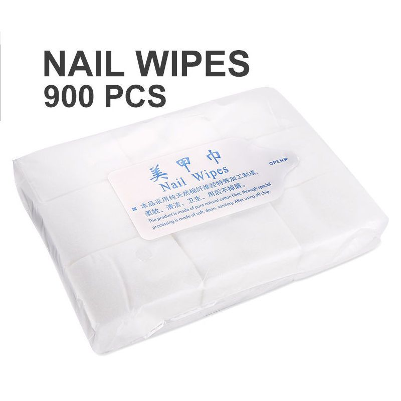 New 900Pcs Nail Wipes Poish Remover Make-up Nail Art Clean Paper ...