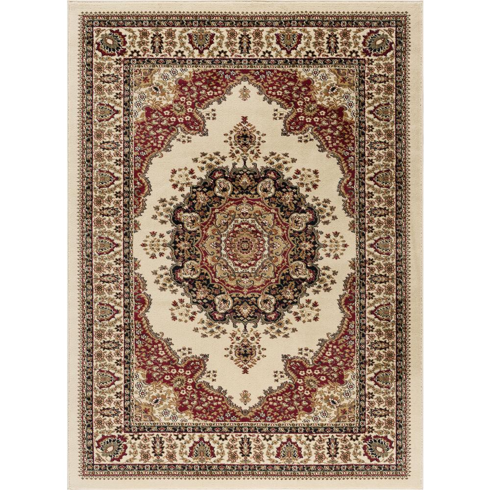 Tayse Rugs Sensation Ivory 8 Ft X 10 Ft Traditional Area Rug