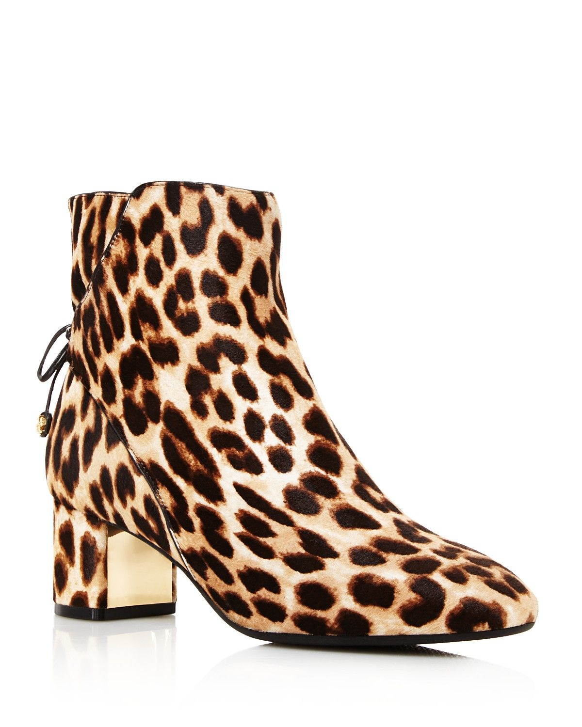 16d4f67c5930 kate spade new york Betsie Too Fringed Leopard-Print Calf Hair Ankle Boots