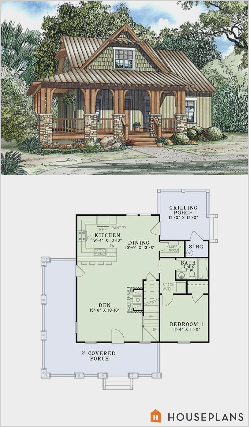 Small Farmhouse Plans 2 Bedroom 2 Bath in 2020 Craftsman