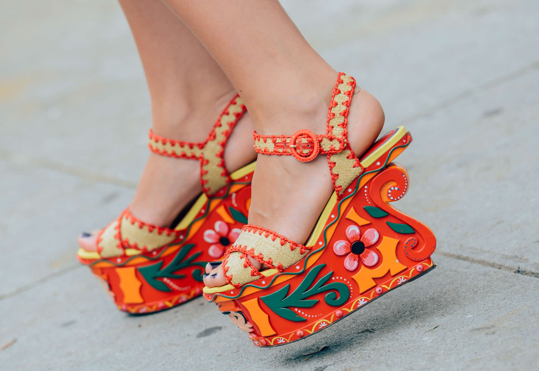 September 10, 2013 Tags Shoes, Dolce & Gabbana, Platform Shoes, Florals, Prints, SS14 Women's, Red, Women, New York