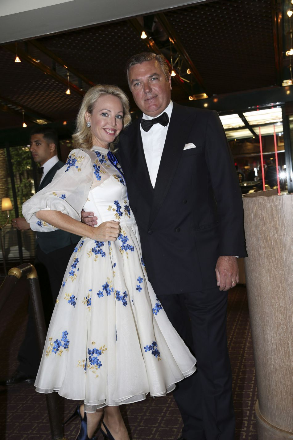 Prince Carlo of Bourbon-Two Sicilies and Princess Camilla of Bourbon-Two Sicilies at a reception in honour of Desmond Tutu at the headquarters of the automobile club de Monaco, 05.06.2014