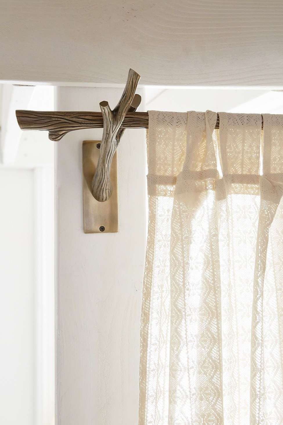 locust branch curtain rod room redo pinterest cortinas