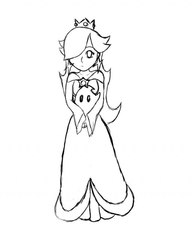 Rosalina Mario Coloring Pages. Princess Rosalina Coloring Pages  AZ Jo Elle