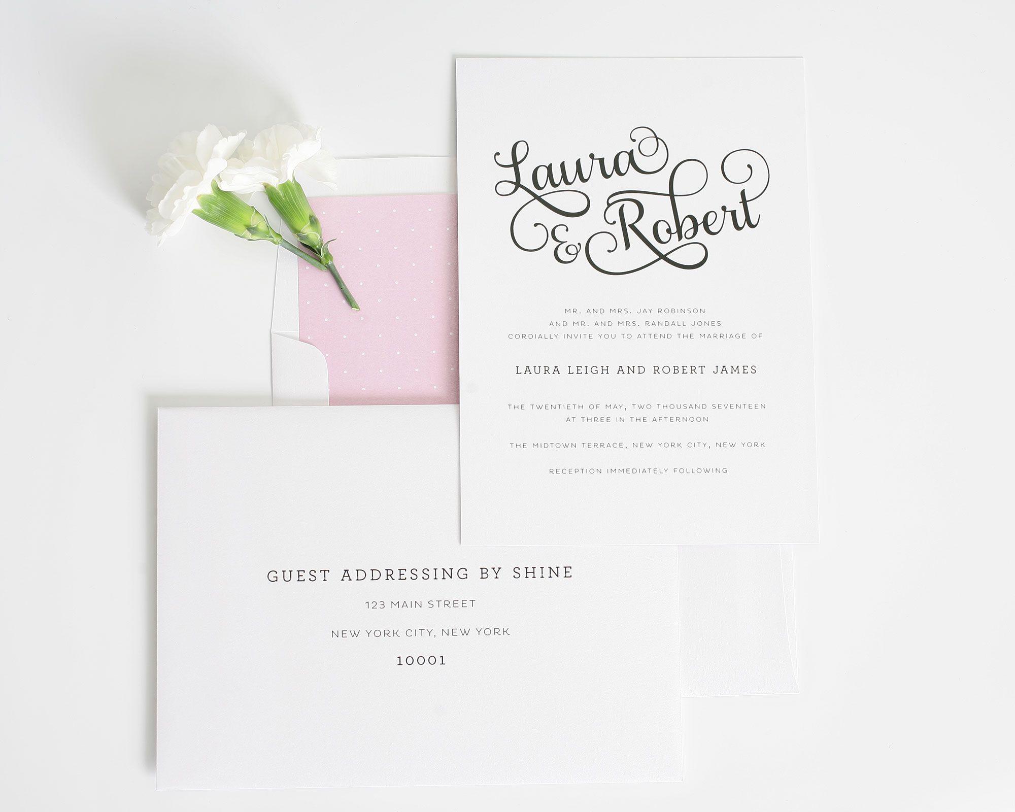 Sweet Romance Wedding Invitations   Shine wedding invitations ...