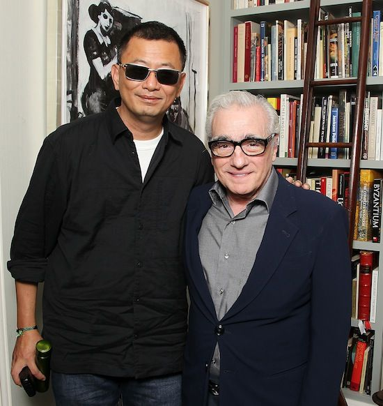 Director Won Kar Wai and Martin Scorsese celebrate the upcoming release of MARTIN SCORSESE PRESENTS 'THE GRANDMASTER'