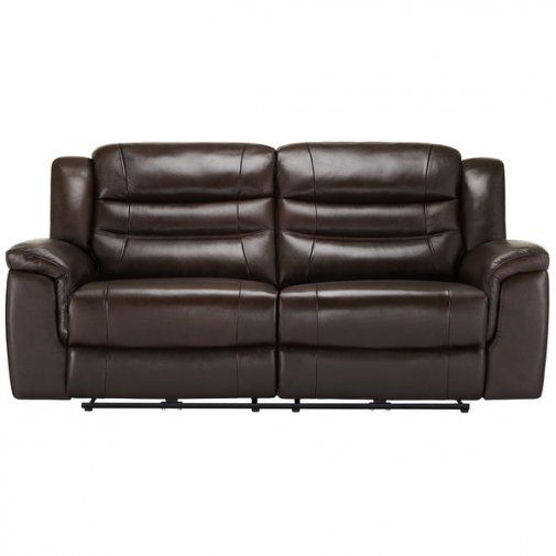 Brody 3 Seater Sofa With 2 Electric Recliners Dark Brown Leather Leather Sofa Electric Recliners Leather