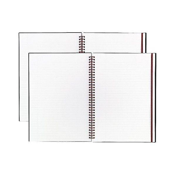 Black n\u0027 Red 8-/ 11-/4 Poly Twinwire Notebook - Margin Rule - Sheets