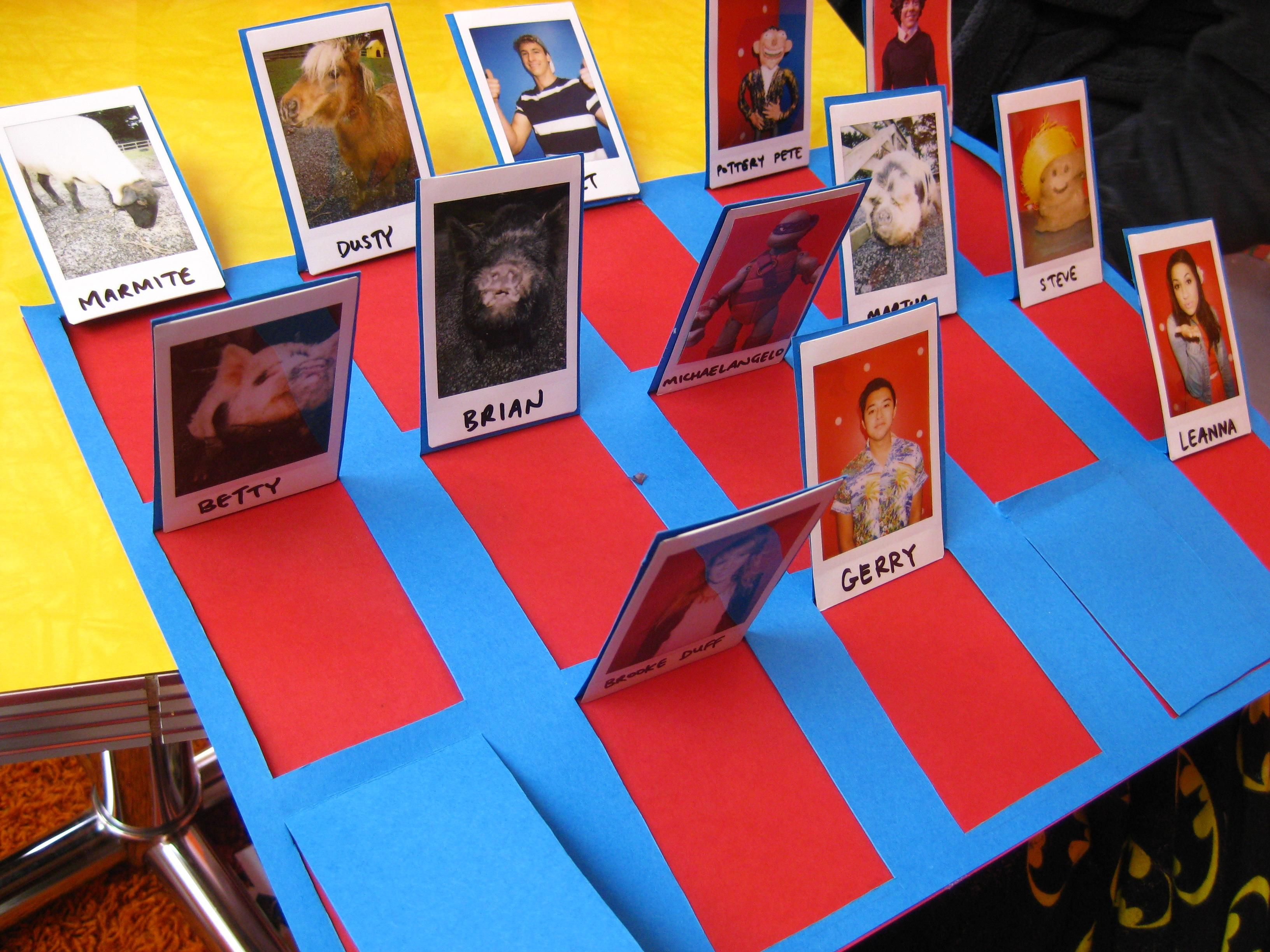 Find all the instructions for the Guess Who? game here and