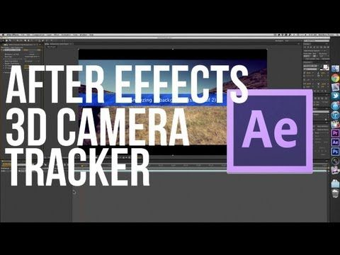 After Effects Cs6 3d Camera Tracker Youtube Motion Graphics
