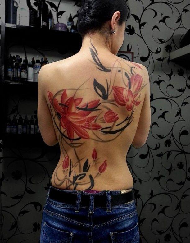 tattoo blumen tribal tattoos pinterest. Black Bedroom Furniture Sets. Home Design Ideas