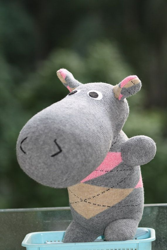 Handmade Large Hippo Stuffed Animal Toys Little By Toyapartment