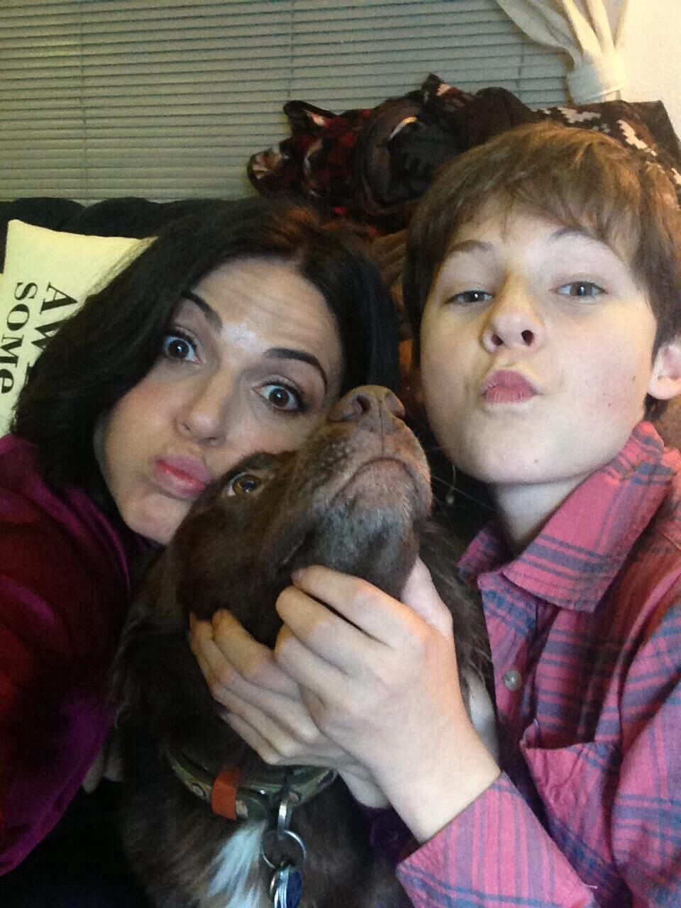 Lana Parrilla , lola and Jared Gilmore. Perfection!!