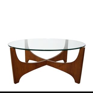 table,basse,salon,verre,étoile,teck,scandinave,hugues,poignant ...